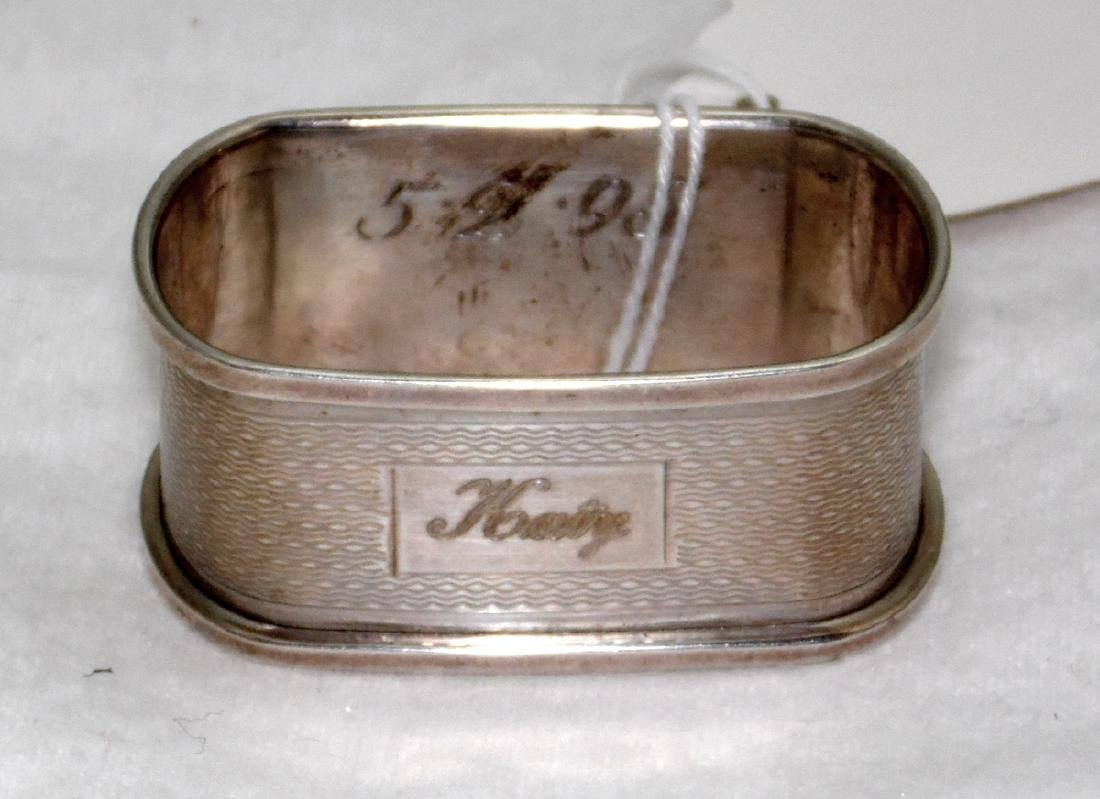 """Sterling Silver  """"Katy"""" Engine Turned Napkin Ring"""