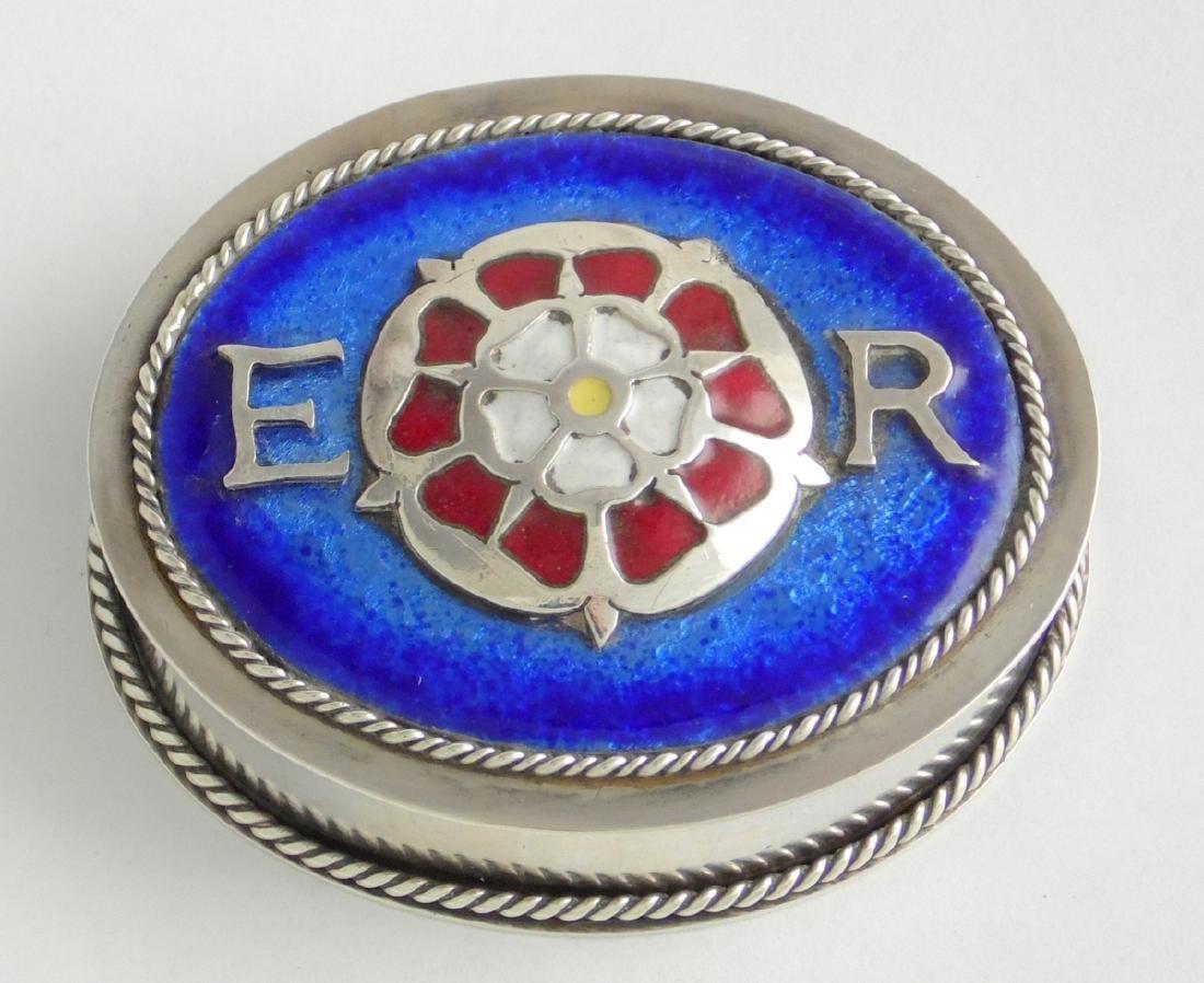 QEII Silver and Blue Enamel Silver Jubilee Box