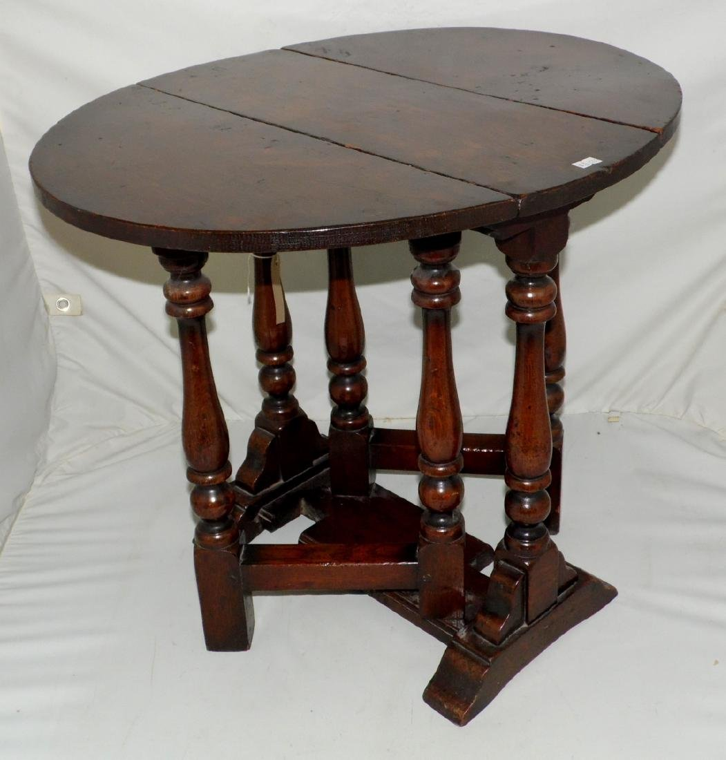 A Jacobean Style Oak Gateleg Coffee Table