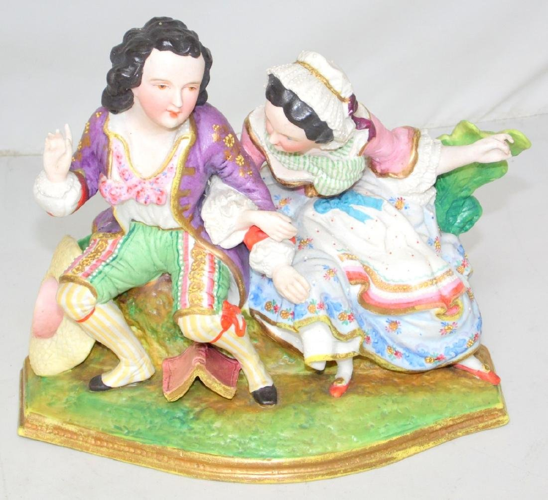 Victorian Continental Hand Painted Bisque Figurine