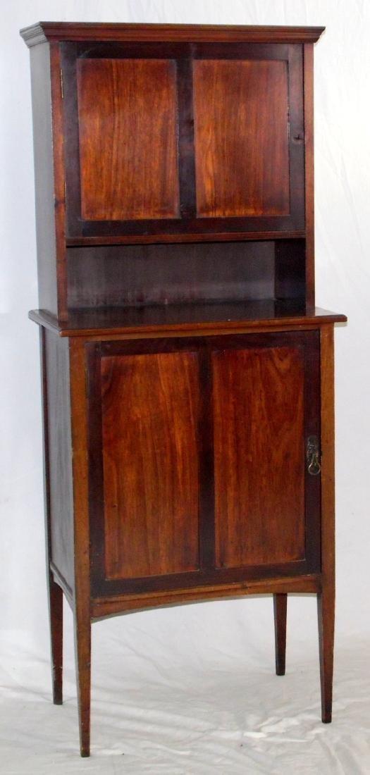 Edwardian Mahogany Music Storage Cabinet.