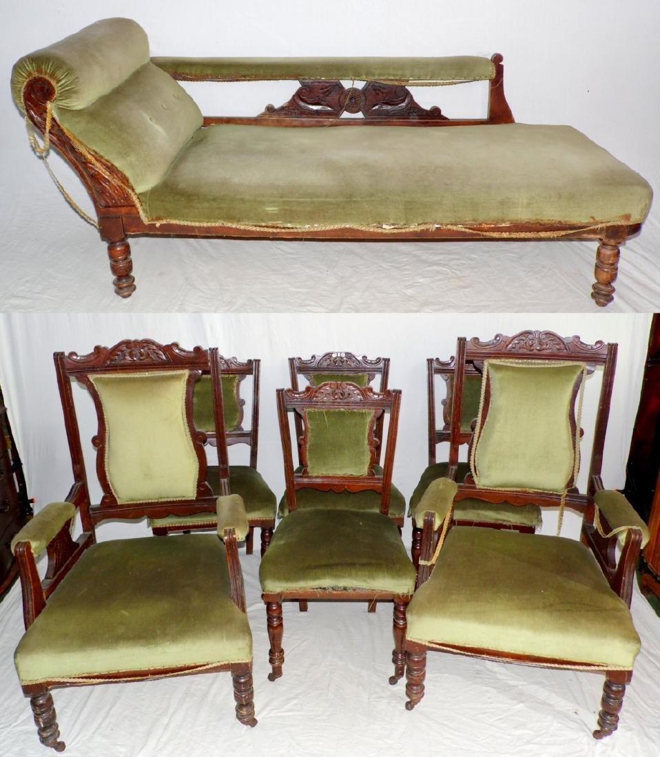 Edwardian Mahogany Parlour/Salon Suite