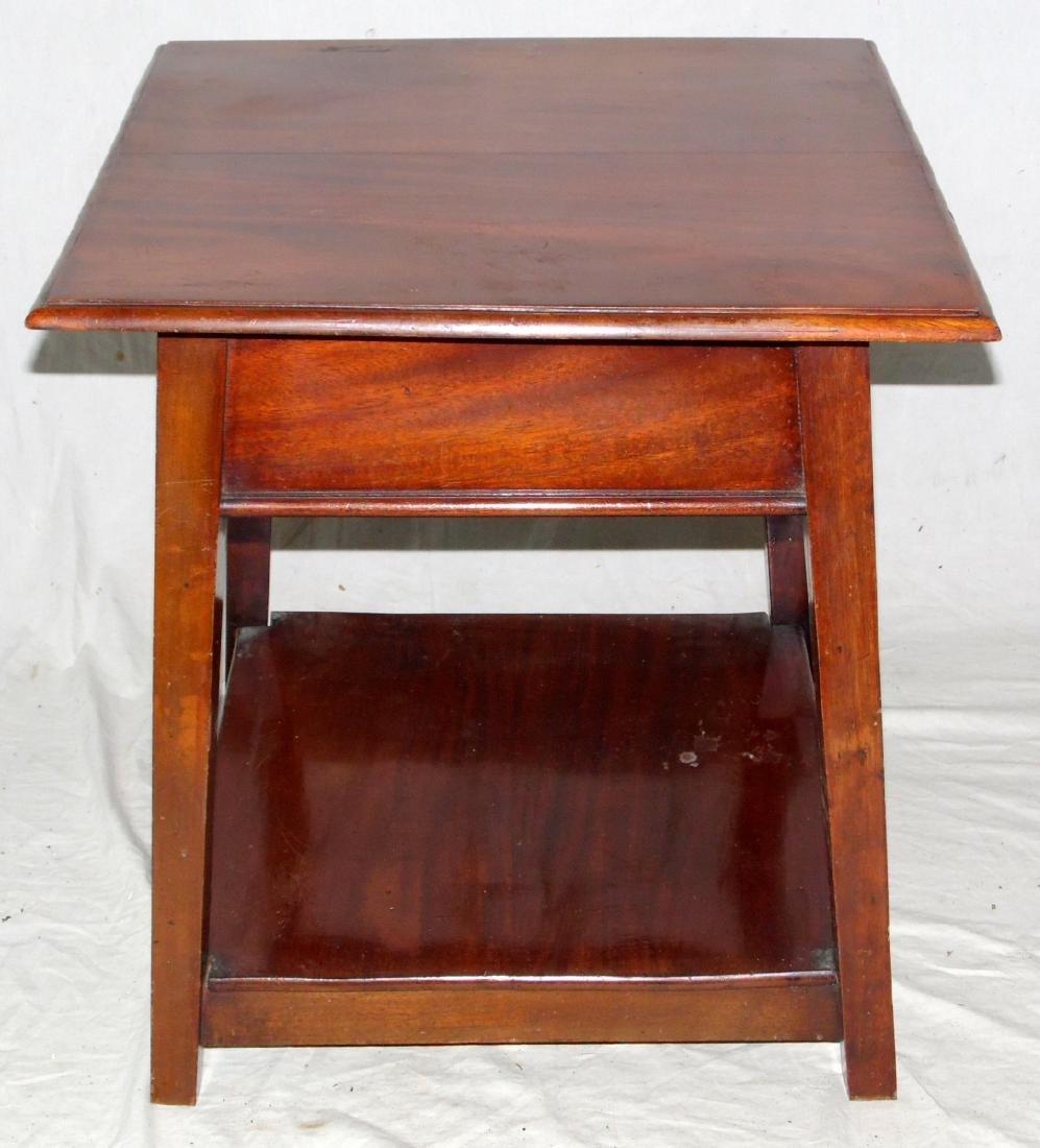 Edwardian Mahogany Center Table with Undershelf