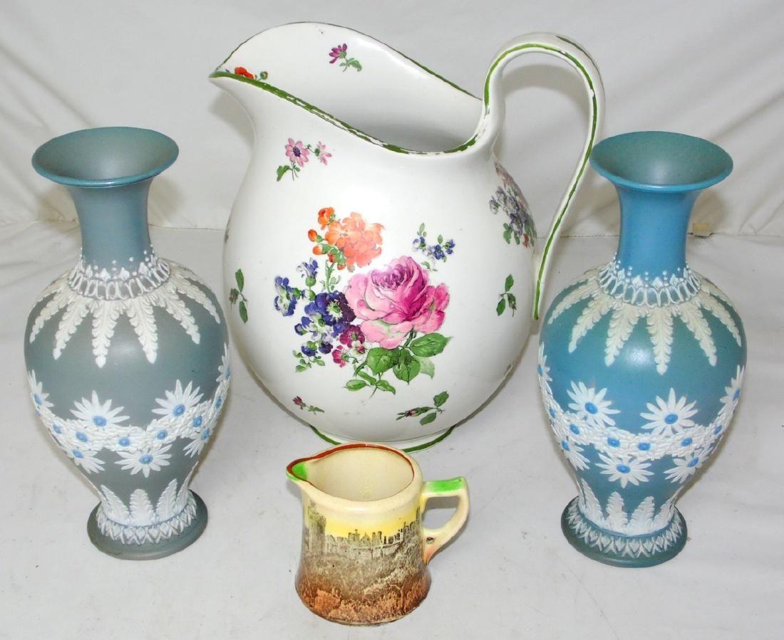 Doulton Lambeth Jasperware Silicon Stoneware Vases