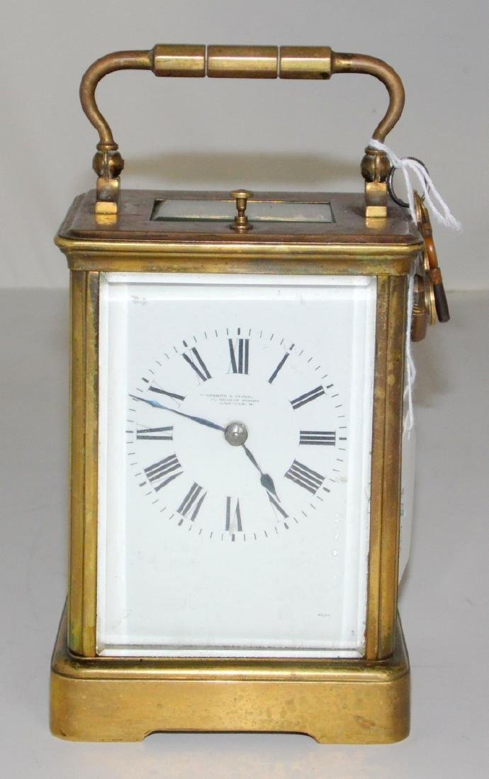 French Striking Repeater Brass Carriage Clock