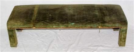 Vintage Green Velvet FenderKneeling Stool