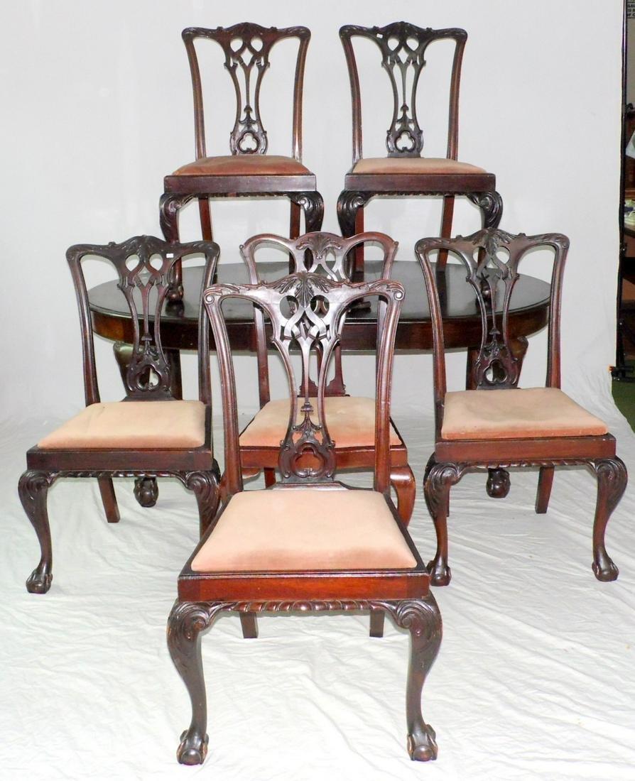 Edwardian Mahogany Dining Room Suite