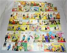 72 Bamforth Comic Series Vintage Postcards Unused.