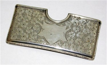 Edwardian Sterling Silver Curved Card Case