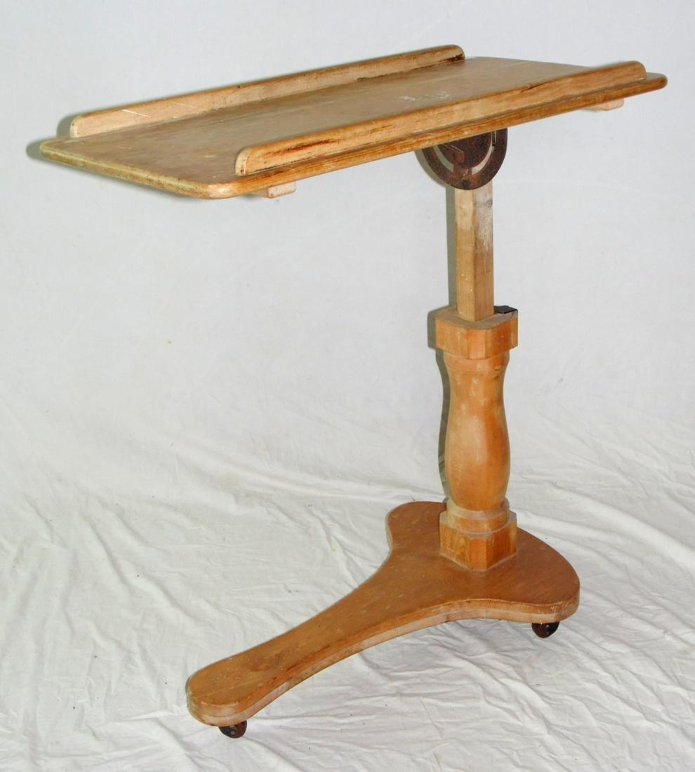 Victorian Pine Rectangular Adj. Reading Stand