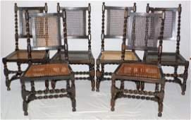 Victorian Oak Barley Twist Dining Chairs.