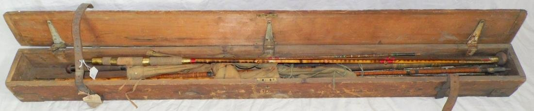 Pine Metal Bound Fishing Rod Carry Box/4 Rods