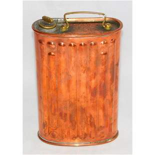 Antique Copper Campaign Hot Water Flask