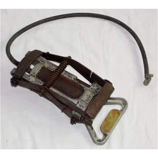 Vintage Wood Milne Tyre Inflater Foot Pump