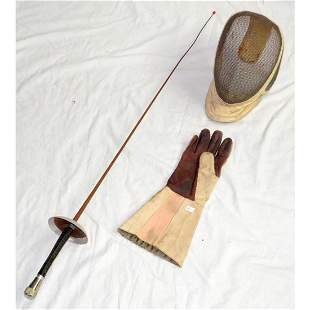 Leon Paul  Fencing Mask,Fencing Glove and Foil