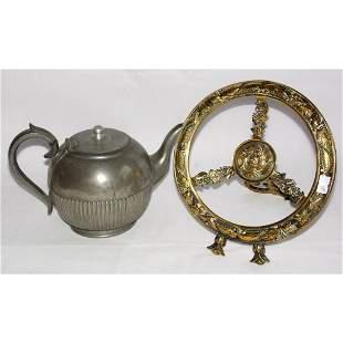 Georgian Cast Brass Kettle Stand