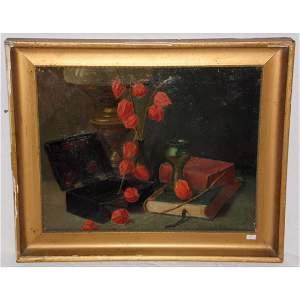 E.G.Handel Lucas Still Life Oil on Canvass 1881