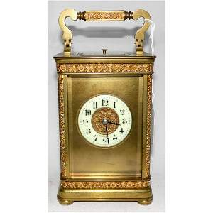 A French Petite Sonnerie Repeating Carriage Clock