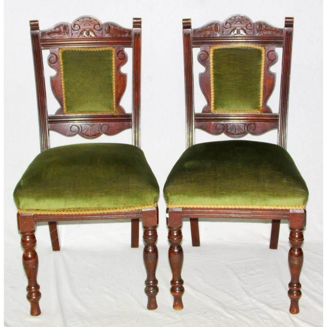 Edwardian Pair of Mahogany Side Chairs c.1910