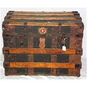 Victorian Dome Topped Steamer Chest/Trunk