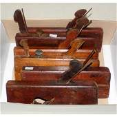 Collection of 6 Antique Carpentry Moulding Planes
