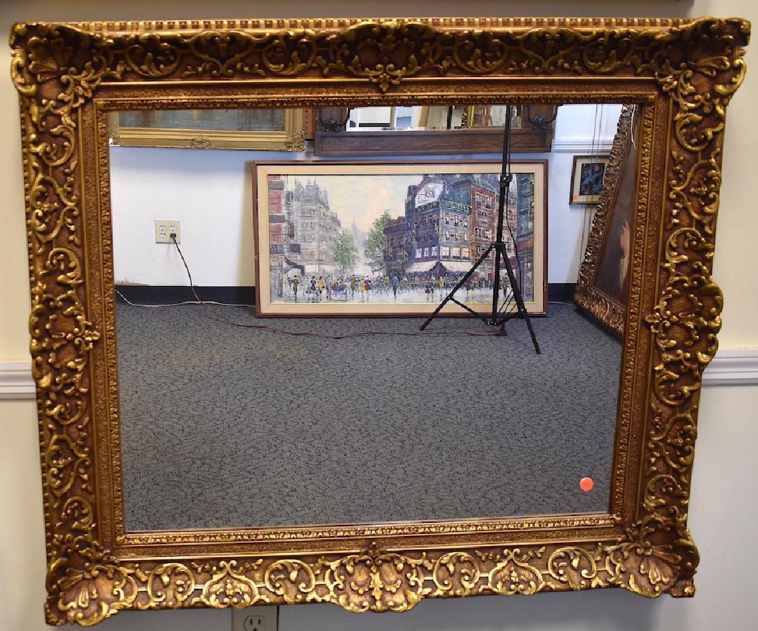 Large 20th C. fancy gilt mirror