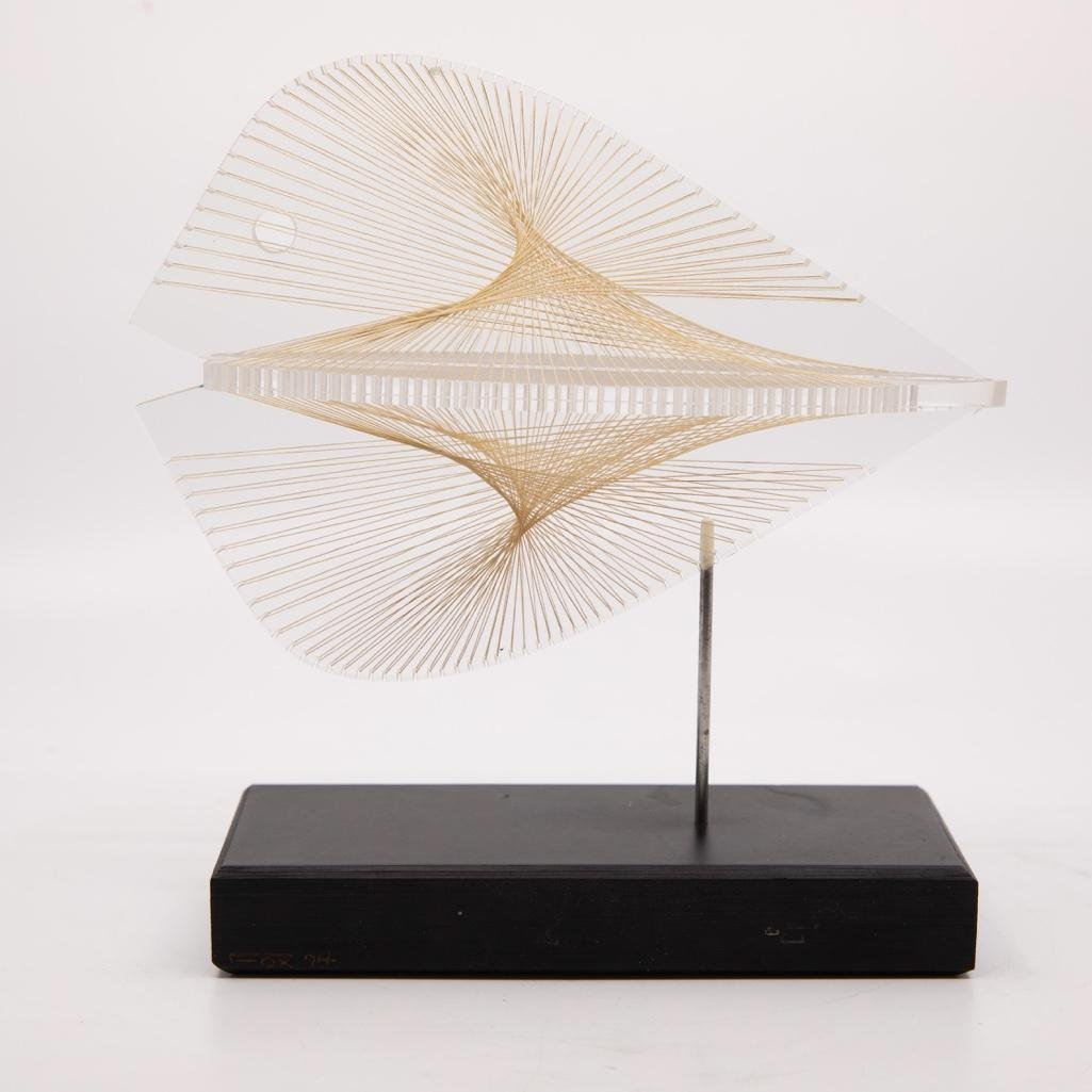 Ronald Fox 1970s Lucite and String Sculpture