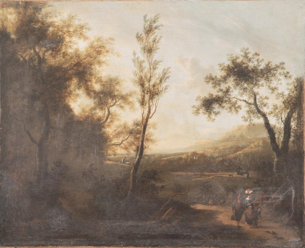 Early 19th Century Italian landscape Oil on Canvas