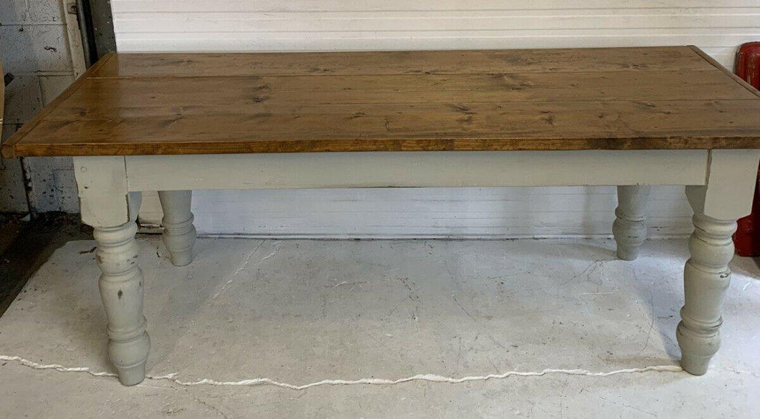 Late 19th C. pine Farm table