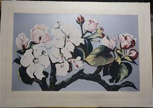 Lowell Nesbitt Floral Hand Signed Numbered Serigraph