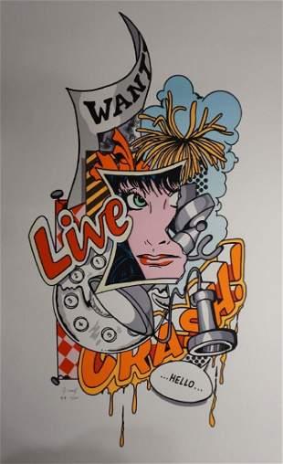 "John Matos ""Crash"" Wanted Live Hand Signed Numbered"