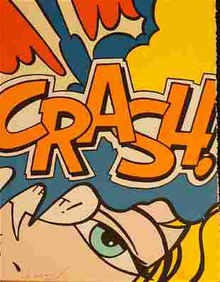 "John Matos ""Crash"" Crash (Orange) Hand Signed Numbered"
