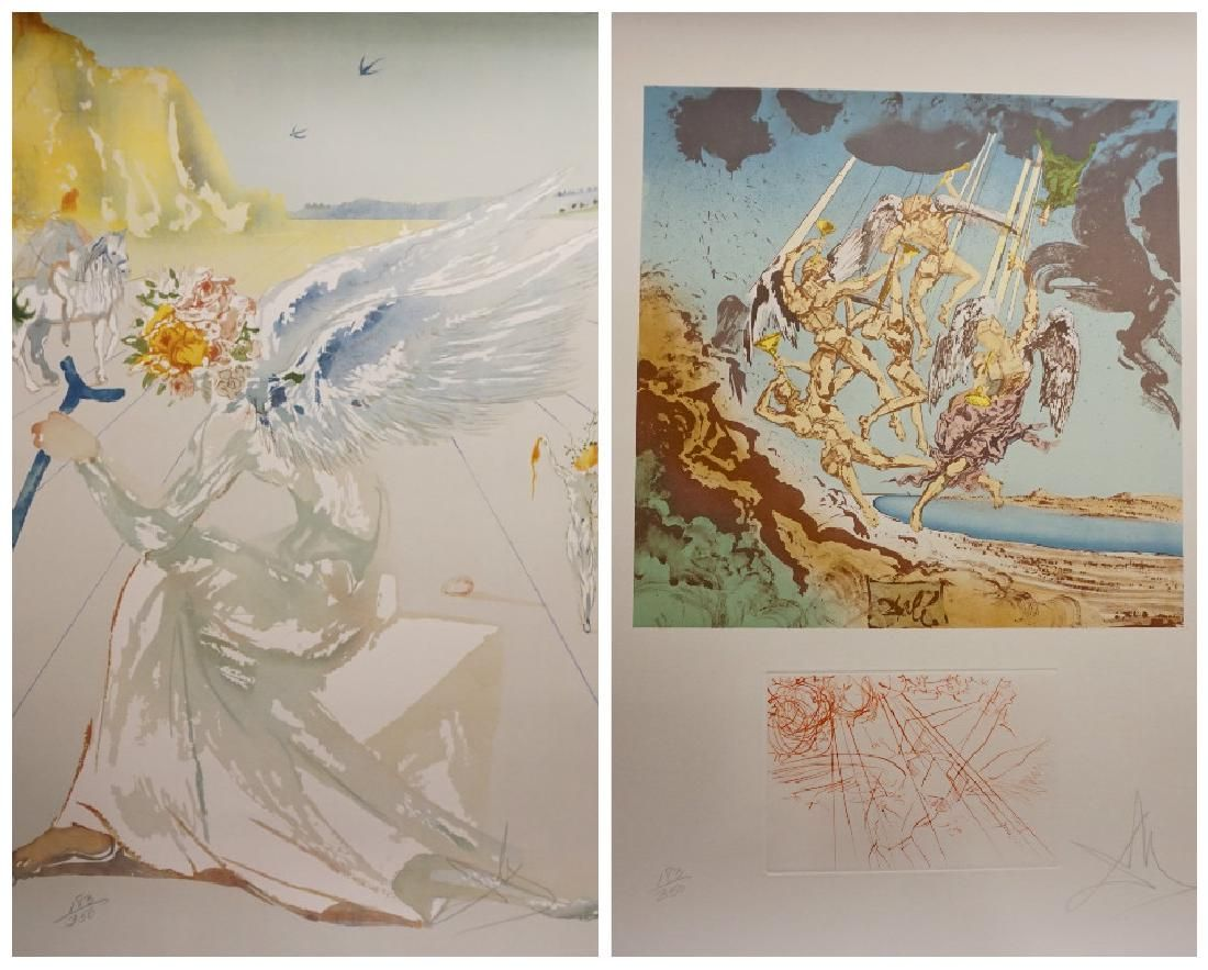 Dali Homage a Homere Suite Hand Signed Numbered Dali