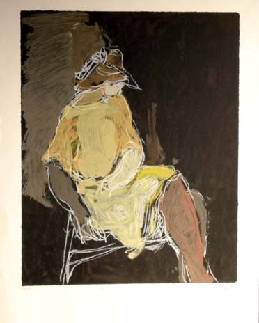 215: Itzchak Tarkay Seated Woman Early Serigraph HS/N