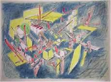 335 Roberto Matta Octravi Pencil Signed Lithograph
