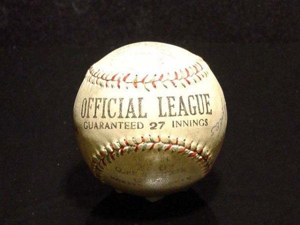 337: Fully Authenticated Jimmie Foxx Baseball + 3 Other