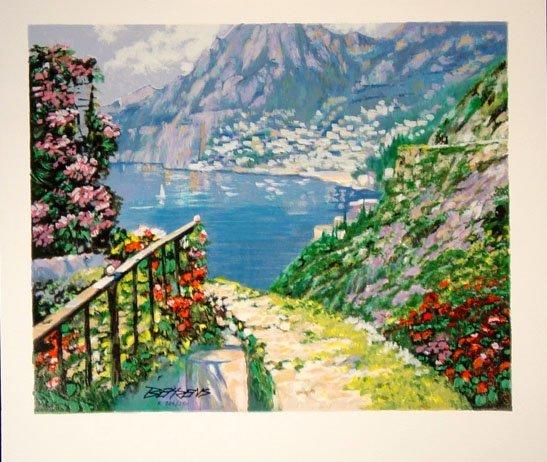 349: Howard Behrens Road To Positano Serigraph HS/N