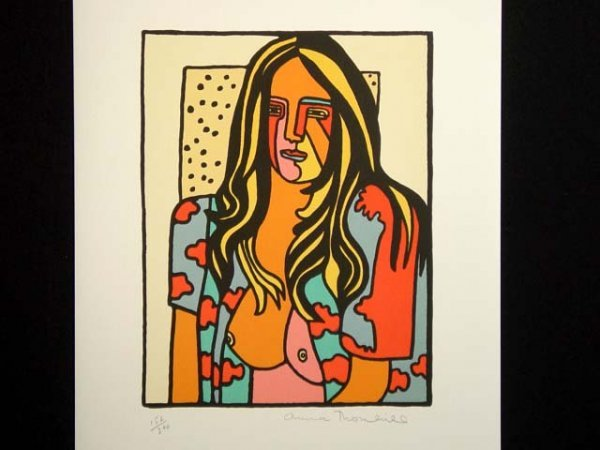 461: Anna Thornhill Serigraph Standing Nude Hand Signed