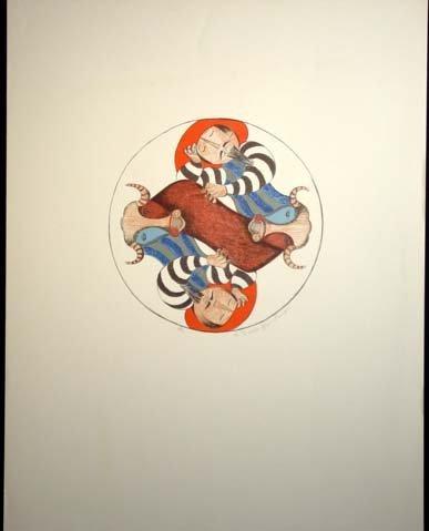464: G. R. Boulanger Matadors Lithograph Hand Signed #