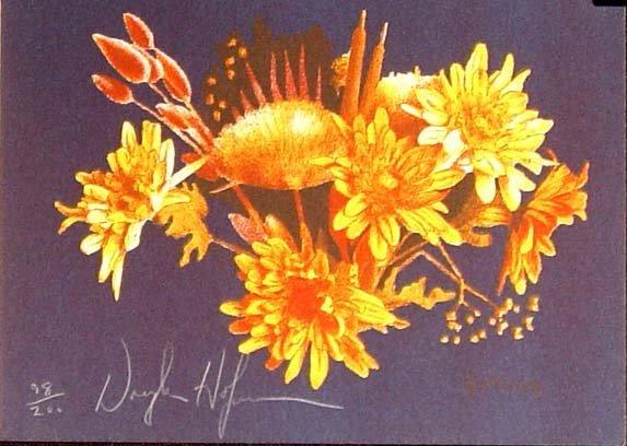 466: Douglas Hofmann Floral Litho. Hand Signed Num.