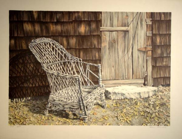 470: Helen Rundell Old Chair Lithograph Hand Signed/#