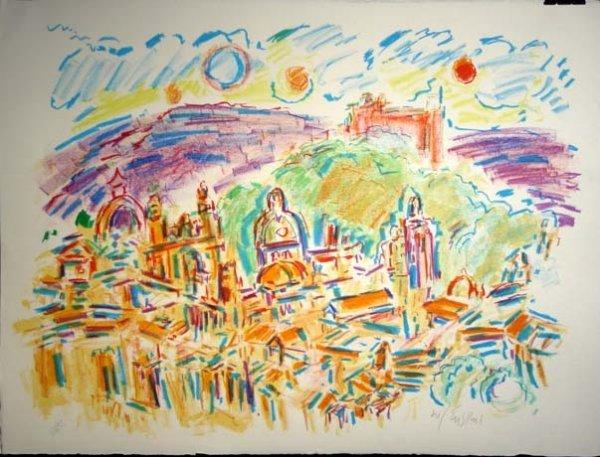 474: Wayne Ensrud Holy City Lithograph Pencil Signed