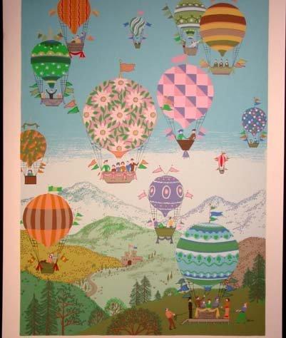 481: Jack Hofflander Balloon Race Lithograph HS/N