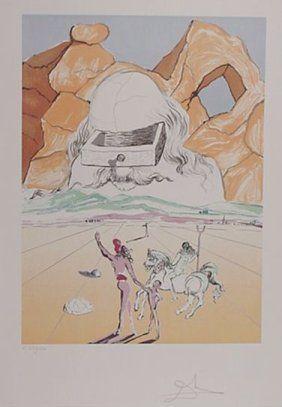 Salvador Dali Path To Wisdom Hand sig/# Litho