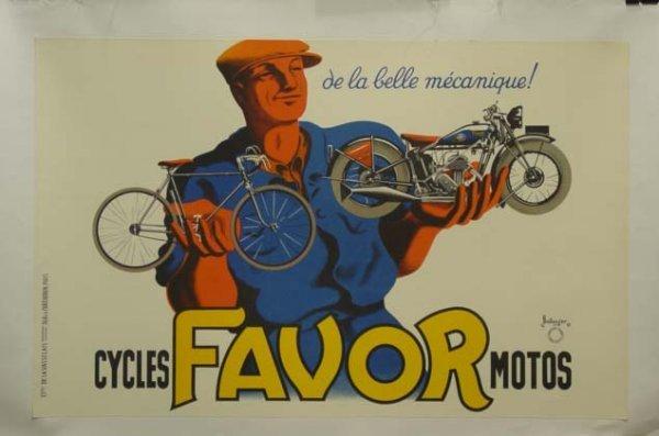659: Cycles Favor Vintage Poster Bellenger Linen Backed