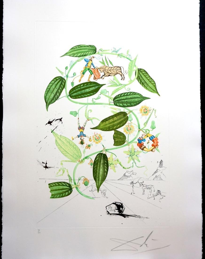 Dali Flora Dalinae Passionflower Hand Signed Etching
