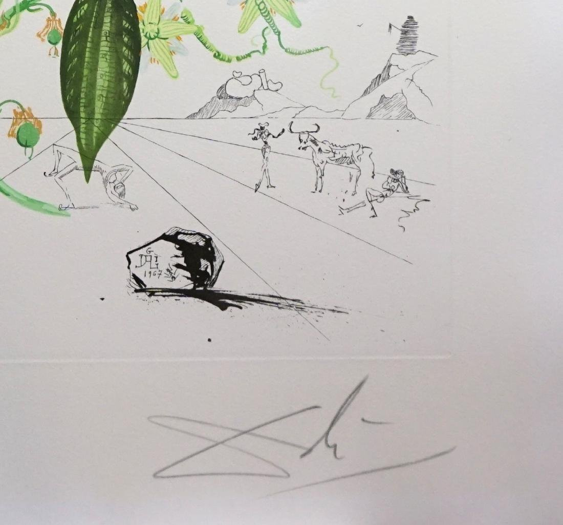 Dali Flora Dalinae Passionflower Hand Signed Etching - 2