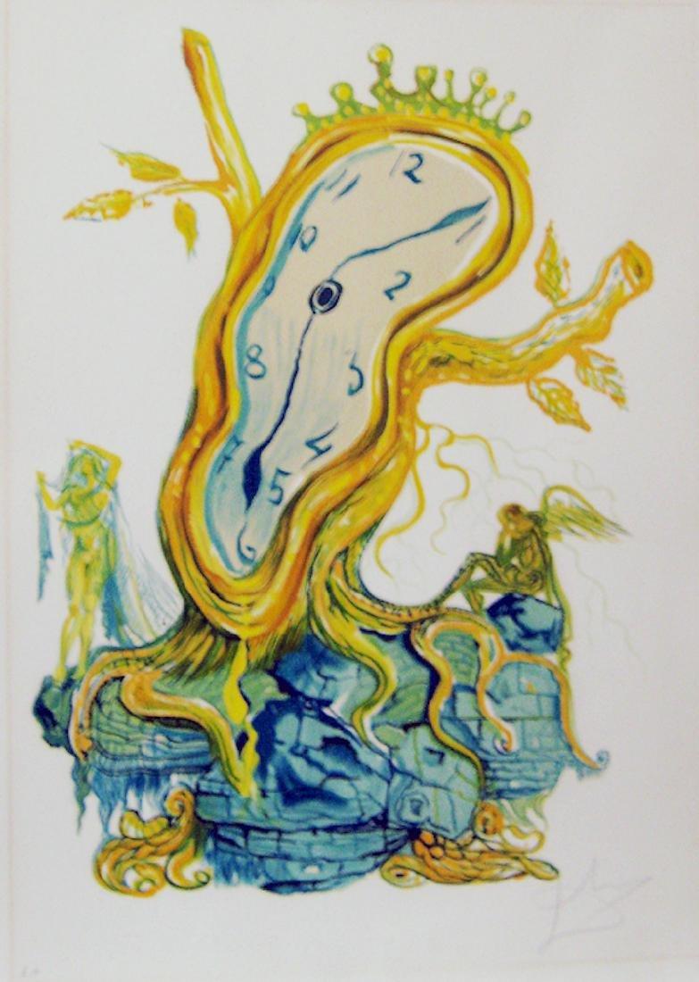 Dali Time Stillness of Time Hand Signed Dali Archives