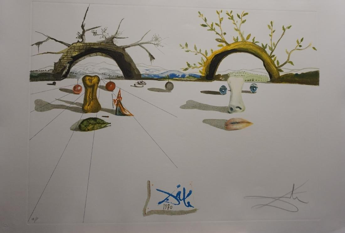 Dali Winter Summer Hand Signed Dali Archives Certified
