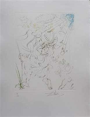 Dali Autumn Hand Signed Etching Dali Archives Certified